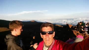 Hawaii on the mountain above the clouds