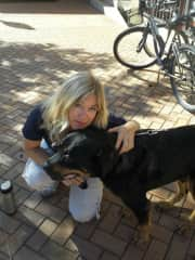with Rotti in Sarasota