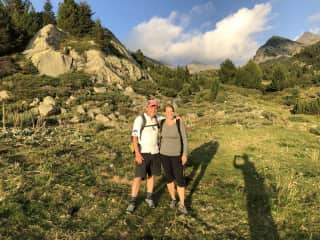 Bernie and Karen hiking