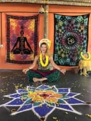 India, yoga school graduation day