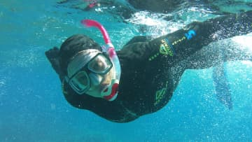 Snorkelling on the Great Barrier Reef...