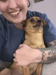 Myself and my dog Flitwick