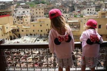 The girls sightseeing in Fez