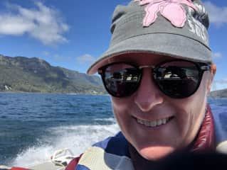 This is a picture of me on a boat on Lake Waikaramoana, NZ in Sept 2018