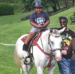 Lil Sammy horseback riding!