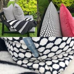 Sewing up cushions/@cheekyrobindesigns