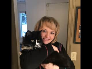 Michelle and Solstice the kitty!