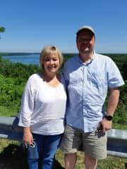 Stephanie and Jon at Niagara-on-the-Lake.