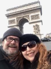 Paris Dec 2019 - Looking after Riki the black cat.