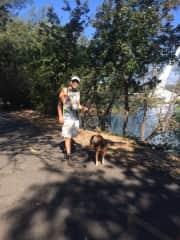 Paul walking Ginger