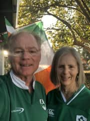 Paul and Frances ready for World Cup Rugby