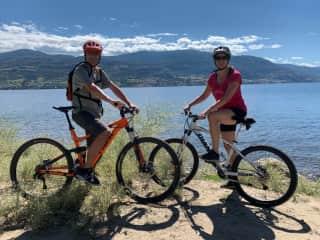 Biking Skaha Lake near Penticton, June 2020.