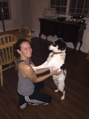 Sometimes he likes to dance with mommy