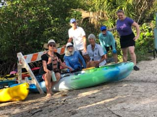 Kayaking with friends in Ft. Hutchinson Florida