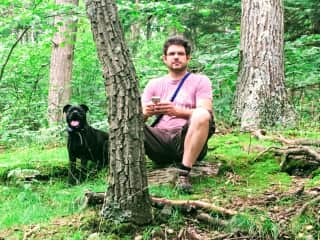 Vince & Hazel on a hike in Pennsylvania