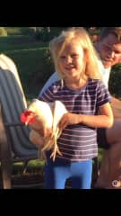 Lily with one our egg producers