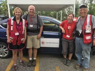 Red Cross Volunteer in Puerto Rico After Hurricane Michael