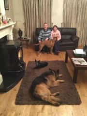 catherine, mike and our dogs