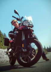 Jeff with his motorcycle