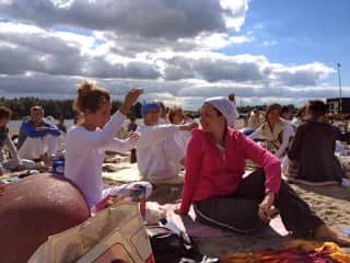 After yoga on the beach. Amsterdam 2013.