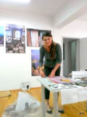 Taking a mosaic workshop