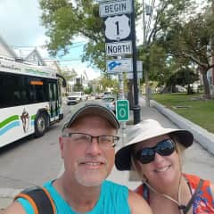 Roger and Kate escaping Wisconsin winters in Key West Florida