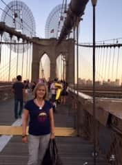 Nancy on the Brooklyn Bridge