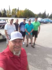 Rory Perron golfing with best friends.
