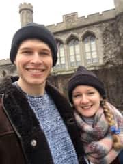 Us exploring Lincoln castle