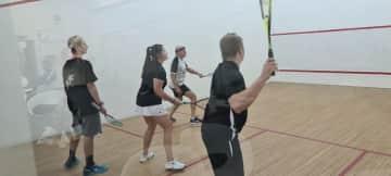 Me playing squash