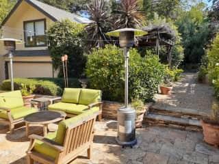 Spacious, mature backyard