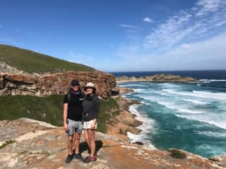 Theunis and I hiking Robberg Nature Reserve, South Africa