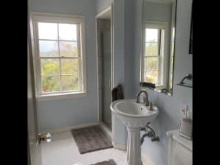 Guest upstairs bathroom with shower