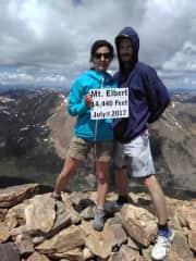 on top of Mt. Elbert