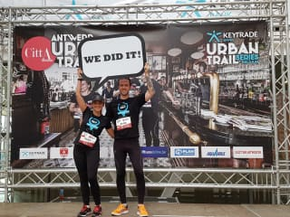 After finishing the Antwerp Urban Trail