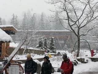 Friends at Whistler ski resort