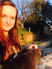 enjoying the sunset with Buffy