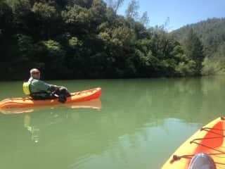 Kayaking with my husband
