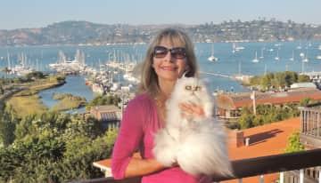Sausalito/San Francisco, California, USA, with Charlie