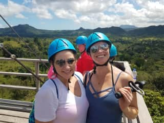 Ziplining through the beautiful jungles of the Dominican Republic