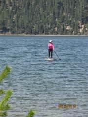 Paddleboarding at East Lake, Oregon