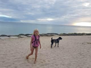 Angelina & Luxmi on a beach walk