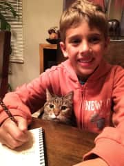 Our son Alex with our cat Chloe