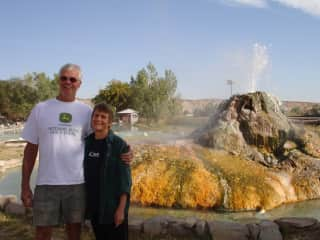 Loving hot springs! Thermopolis, Wyoming, USA