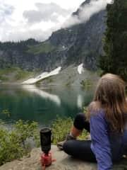 Soaking in the beauty of Lake Serene.