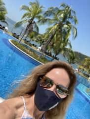 Enjoying the enternal summer of Playa Bonita in Panama.