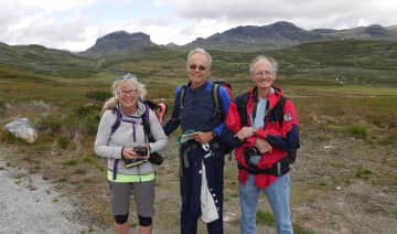 Treking in Norge with friends Lorraine and Bjørn