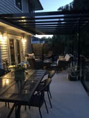 Covered back upper deck