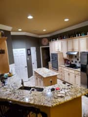This kitchen is the reason we bought this house. I love it. You are welcome to use or eat anything you want.