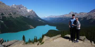 Travelling the Rocky Mountains, Moraine Lake